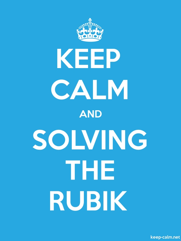 KEEP CALM AND SOLVING THE RUBIK - white/blue - Default (600x800)