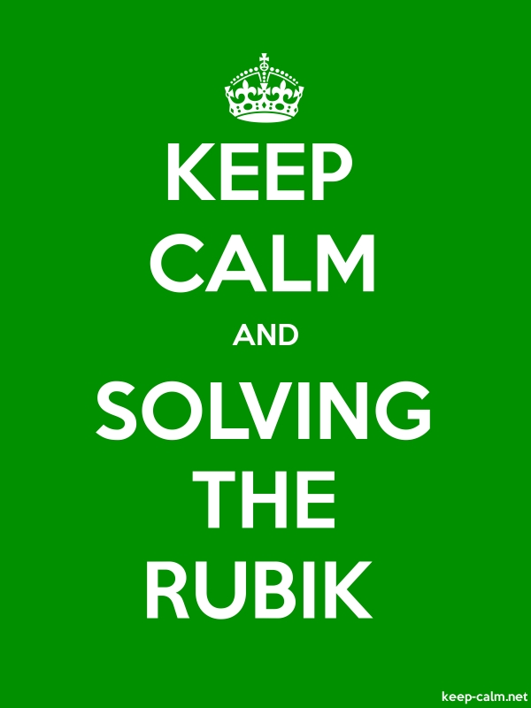 KEEP CALM AND SOLVING THE RUBIK - white/green - Default (600x800)