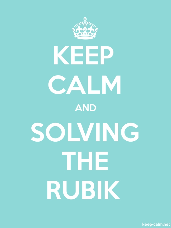 KEEP CALM AND SOLVING THE RUBIK - white/lightblue - Default (600x800)