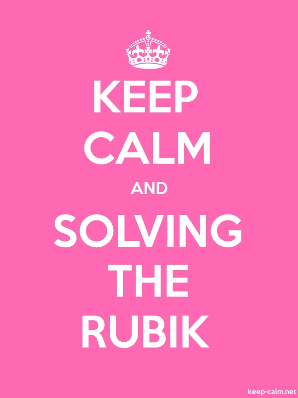 KEEP CALM AND SOLVING THE RUBIK - white/pink - Default (600x800)