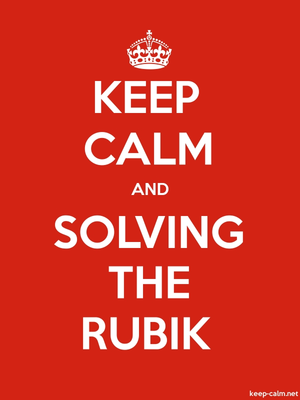 KEEP CALM AND SOLVING THE RUBIK - white/red - Default (600x800)
