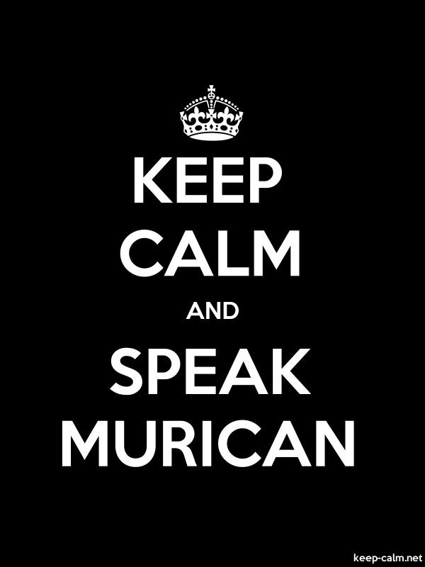 KEEP CALM AND SPEAK MURICAN - white/black - Default (600x800)