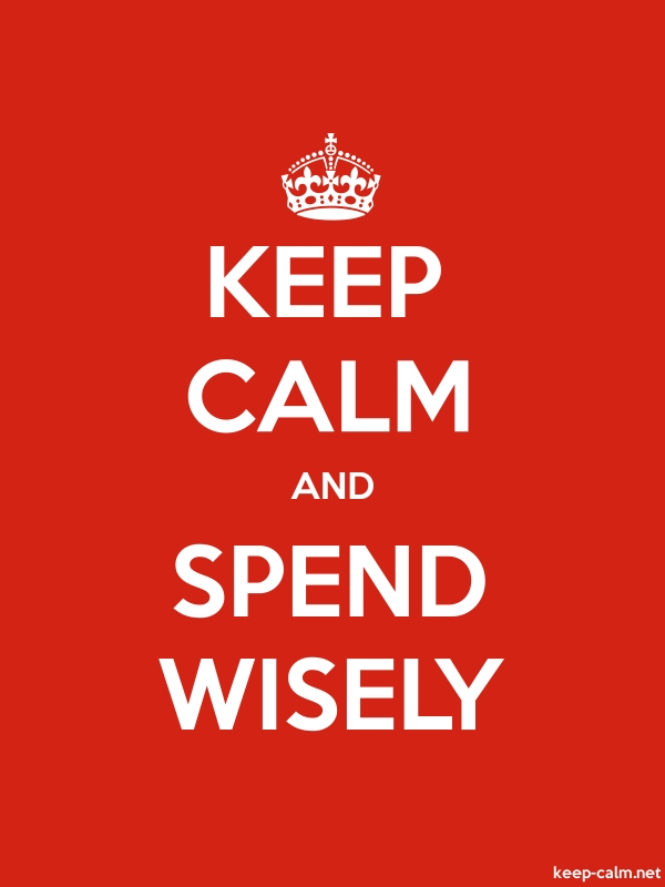 KEEP CALM AND SPEND WISELY - white/red - Default (600x800)