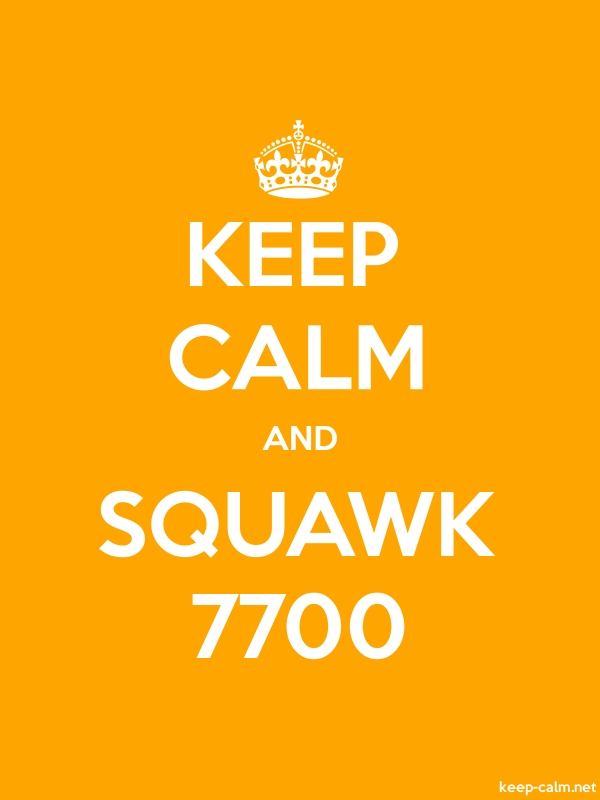 KEEP CALM AND SQUAWK 7700 - white/orange - Default (600x800)