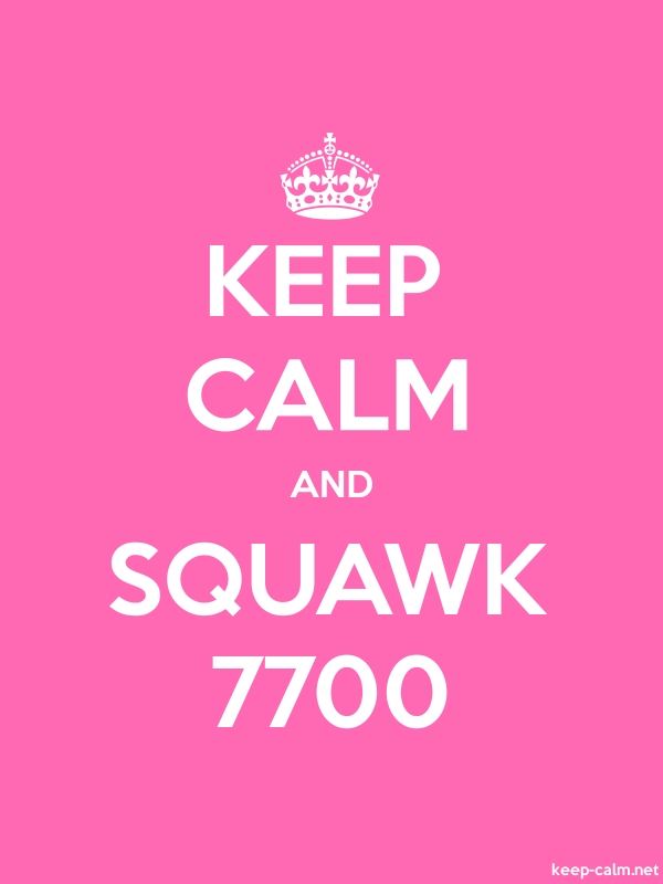 KEEP CALM AND SQUAWK 7700 - white/pink - Default (600x800)