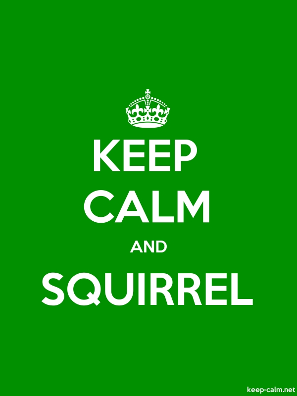 KEEP CALM AND SQUIRREL - white/green - Default (600x800)