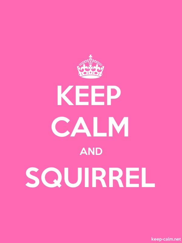 KEEP CALM AND SQUIRREL - white/pink - Default (600x800)