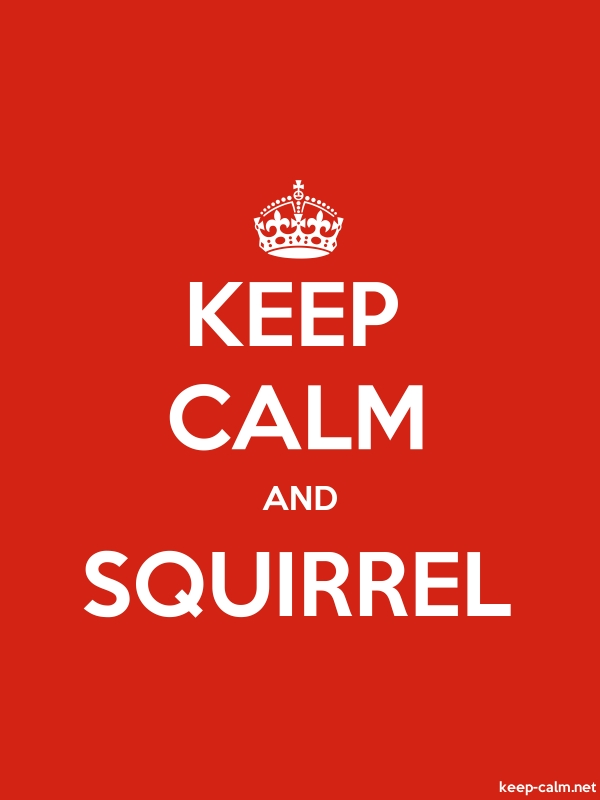KEEP CALM AND SQUIRREL - white/red - Default (600x800)