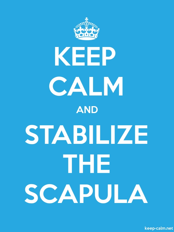 KEEP CALM AND STABILIZE THE SCAPULA - white/blue - Default (600x800)