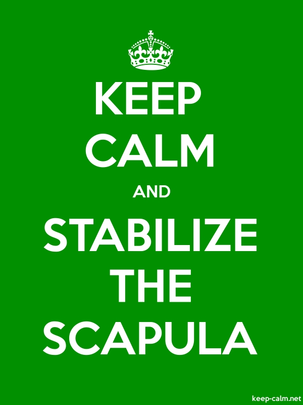 KEEP CALM AND STABILIZE THE SCAPULA - white/green - Default (600x800)