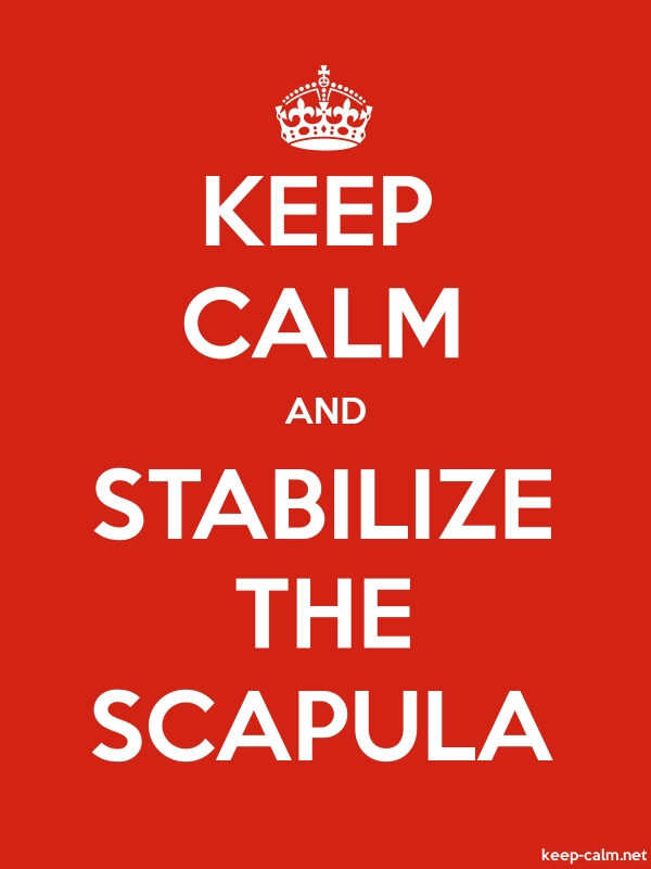 KEEP CALM AND STABILIZE THE SCAPULA - white/red - Default (600x800)