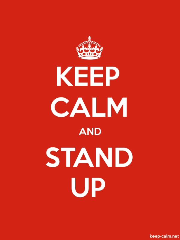 KEEP CALM AND STAND UP - white/red - Default (600x800)