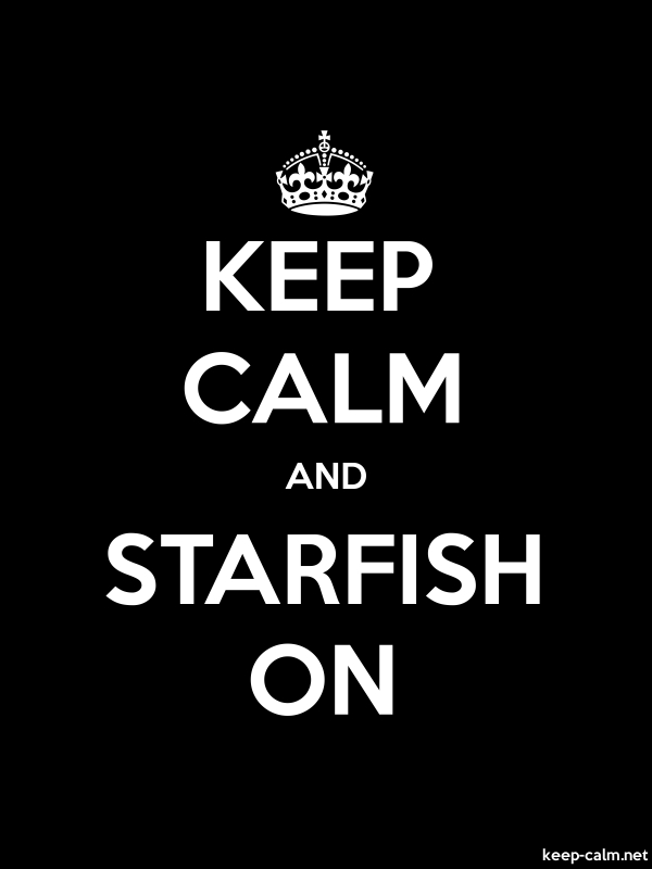 KEEP CALM AND STARFISH ON - white/black - Default (600x800)