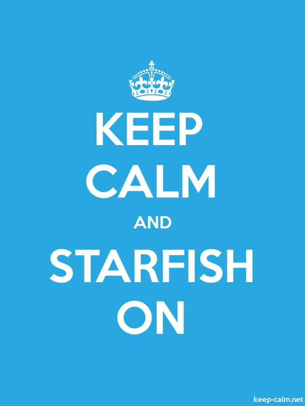 KEEP CALM AND STARFISH ON - white/blue - Default (600x800)