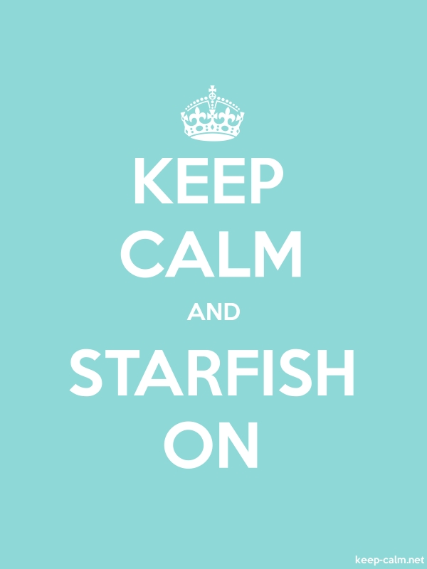 KEEP CALM AND STARFISH ON - white/lightblue - Default (600x800)
