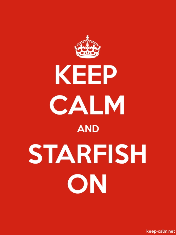 KEEP CALM AND STARFISH ON - white/red - Default (600x800)