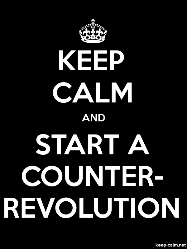 KEEP CALM AND START A COUNTER- REVOLUTION - white/black - Default (600x800)