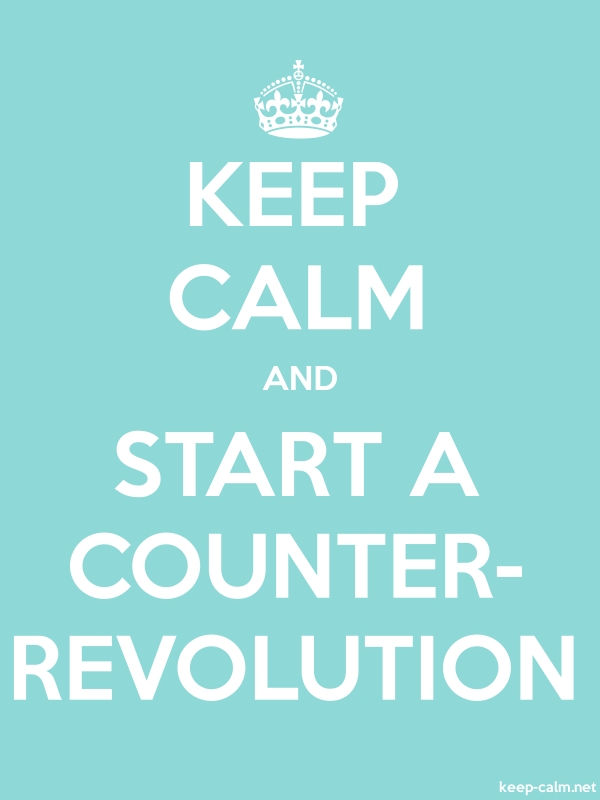 KEEP CALM AND START A COUNTER- REVOLUTION - white/lightblue - Default (600x800)