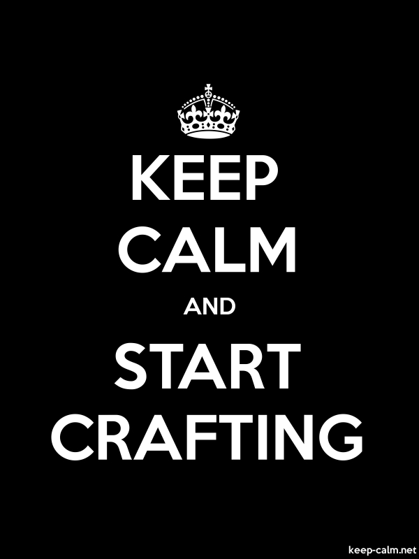 KEEP CALM AND START CRAFTING - white/black - Default (600x800)