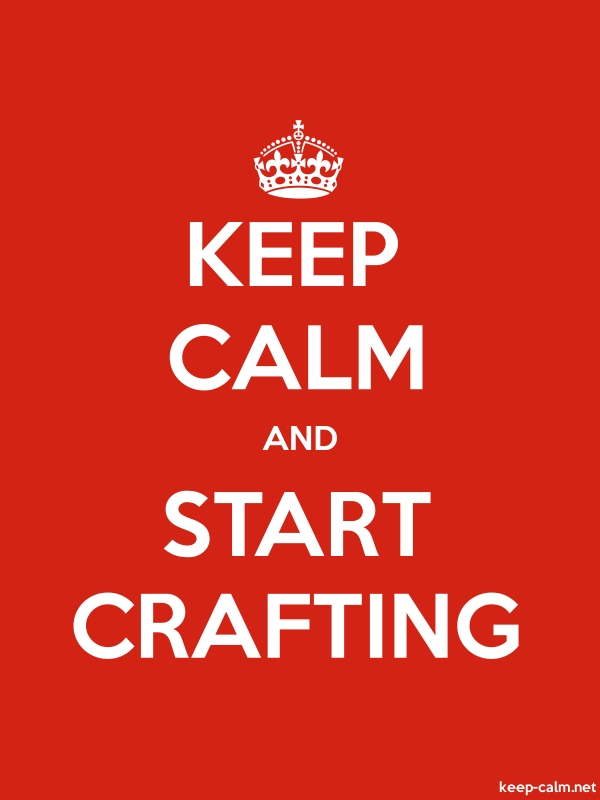 KEEP CALM AND START CRAFTING - white/red - Default (600x800)