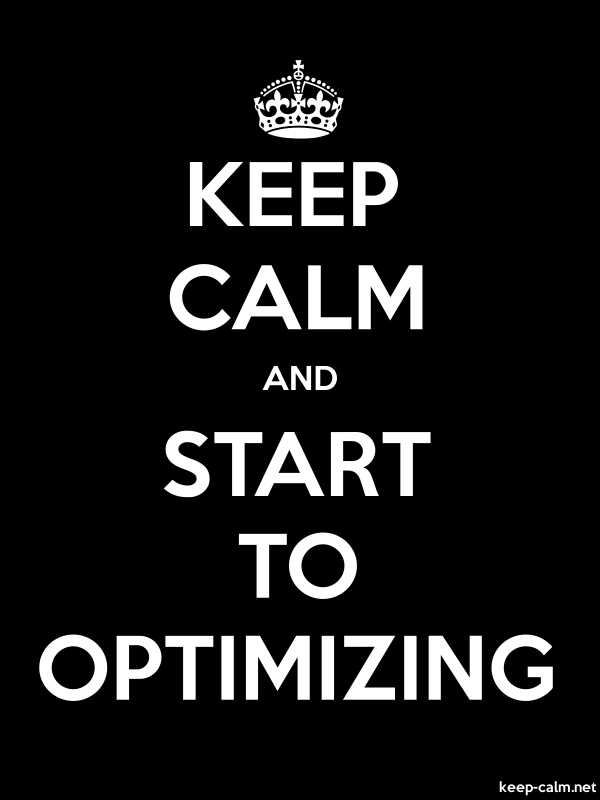 KEEP CALM AND START TO OPTIMIZING - white/black - Default (600x800)
