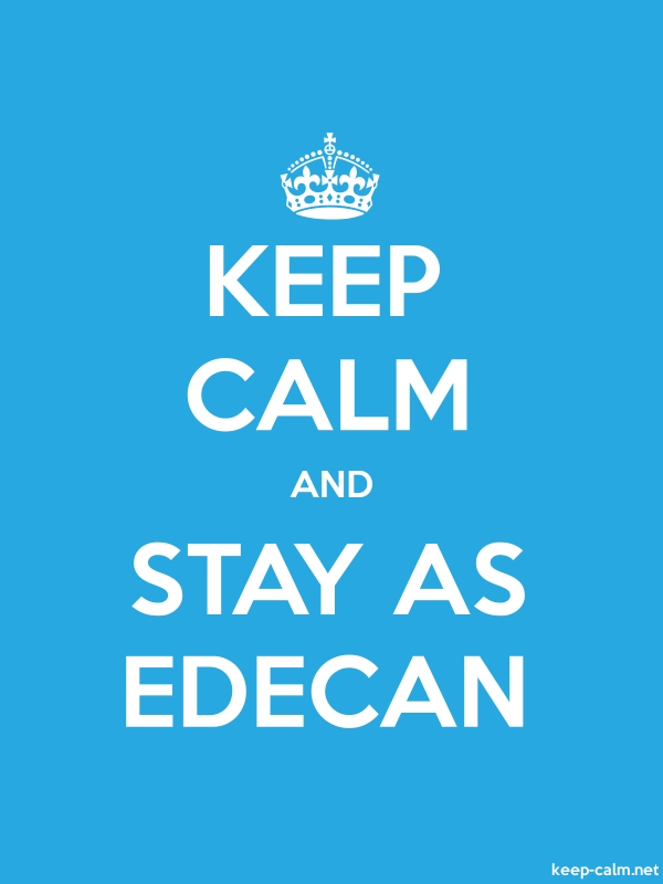 KEEP CALM AND STAY AS EDECAN - white/blue - Default (600x800)