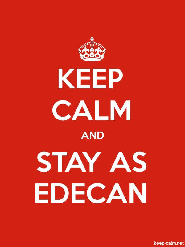 KEEP CALM AND STAY AS EDECAN - white/red - Default (600x800)