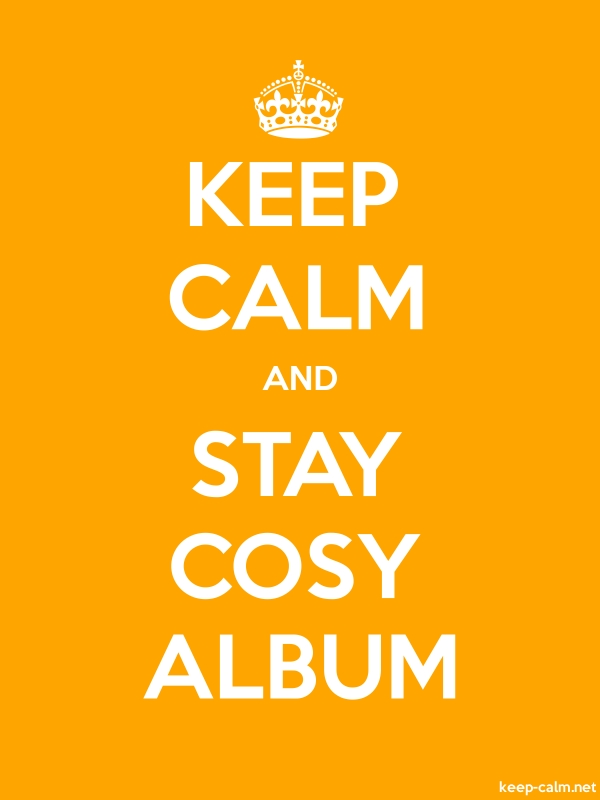 KEEP CALM AND STAY COSY ALBUM - white/orange - Default (600x800)