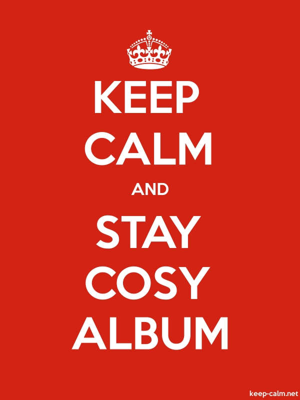 KEEP CALM AND STAY COSY ALBUM - white/red - Default (600x800)