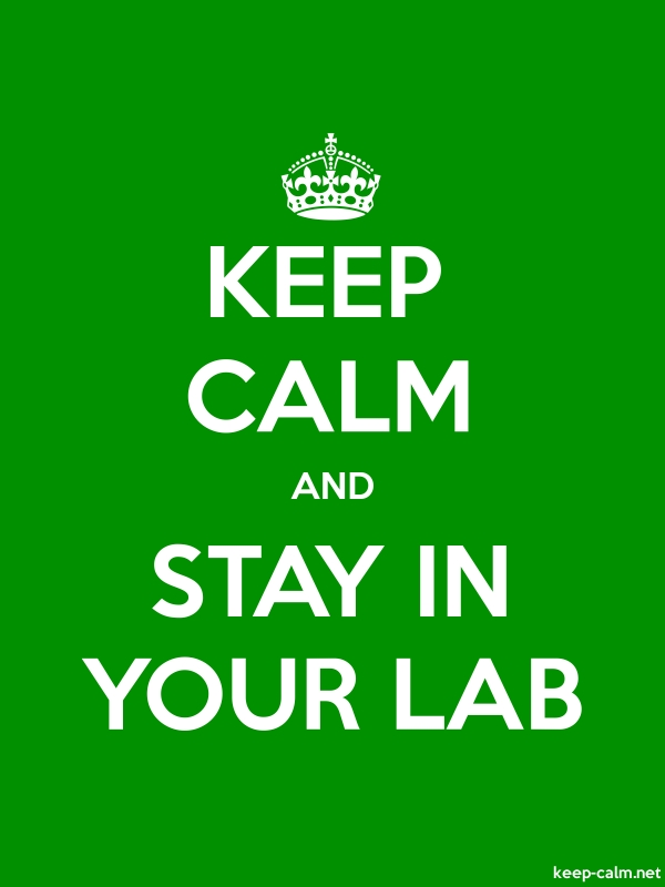 KEEP CALM AND STAY IN YOUR LAB - white/green - Default (600x800)