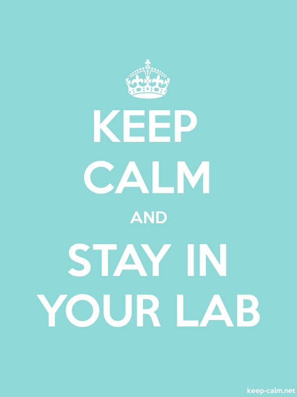 KEEP CALM AND STAY IN YOUR LAB - white/lightblue - Default (600x800)