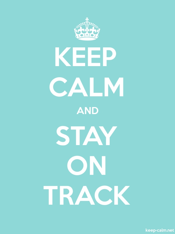 KEEP CALM AND STAY ON TRACK - white/lightblue - Default (600x800)