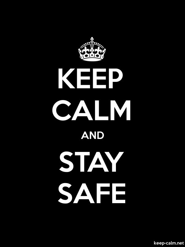 KEEP CALM AND STAY SAFE - white/black - Default (600x800)