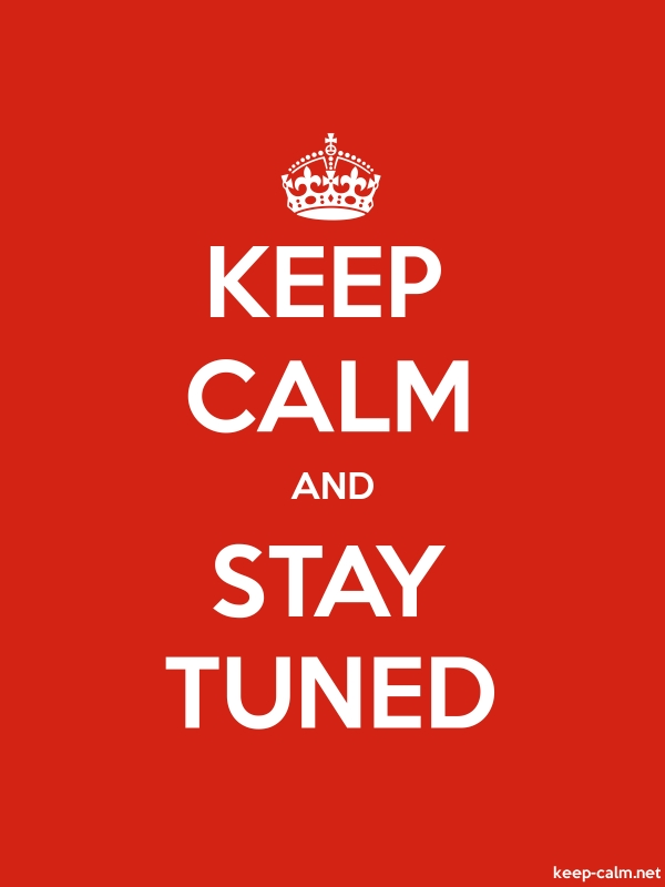 KEEP CALM AND STAY TUNED - white/red - Default (600x800)