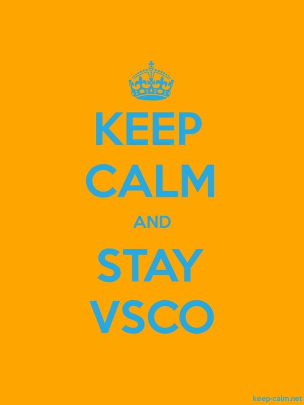 KEEP CALM AND STAY VSCO - blue/orange - Default (600x800)