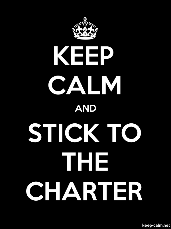 KEEP CALM AND STICK TO THE CHARTER - white/black - Default (600x800)