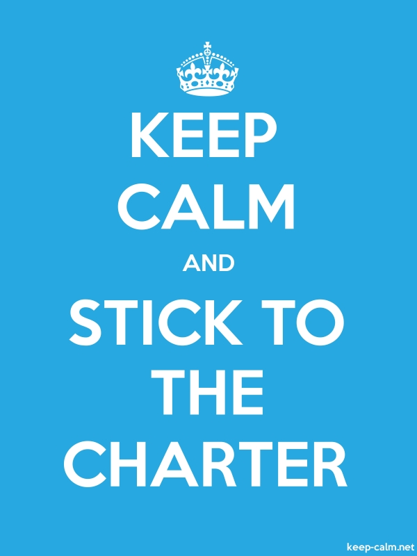 KEEP CALM AND STICK TO THE CHARTER - white/blue - Default (600x800)