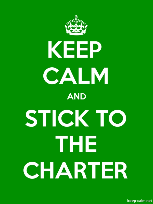 KEEP CALM AND STICK TO THE CHARTER - white/green - Default (600x800)