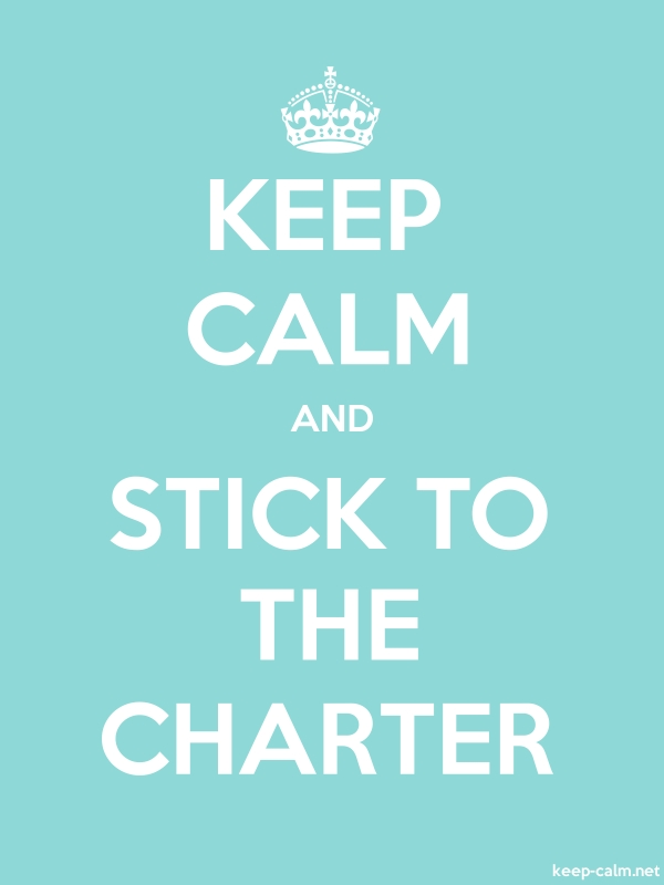 KEEP CALM AND STICK TO THE CHARTER - white/lightblue - Default (600x800)