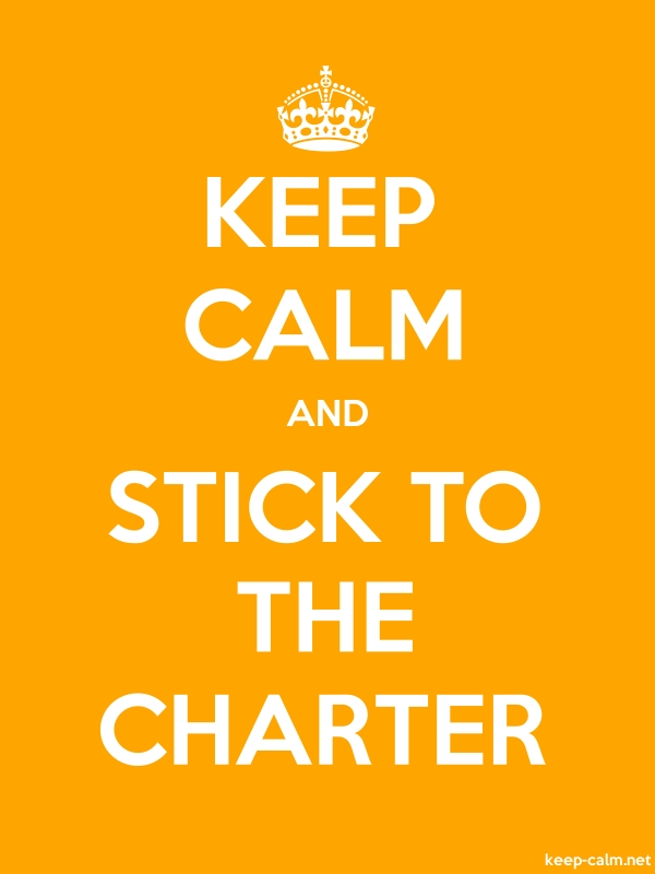 KEEP CALM AND STICK TO THE CHARTER - white/orange - Default (600x800)