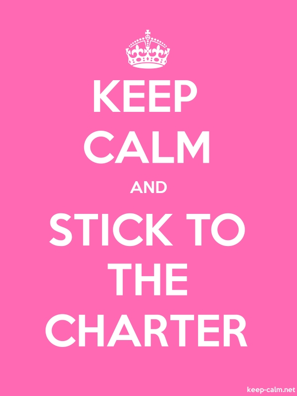 KEEP CALM AND STICK TO THE CHARTER - white/pink - Default (600x800)