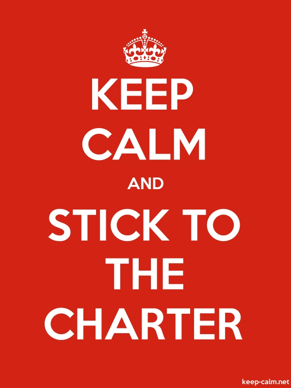 KEEP CALM AND STICK TO THE CHARTER - white/red - Default (600x800)