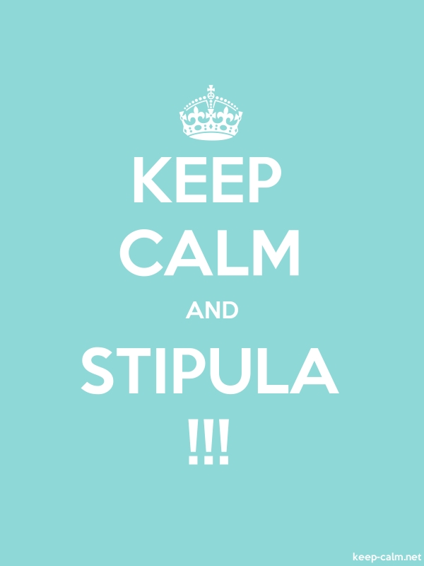 KEEP CALM AND STIPULA !!! - white/lightblue - Default (600x800)