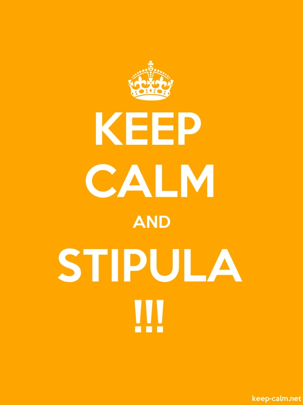 KEEP CALM AND STIPULA !!! - white/orange - Default (600x800)