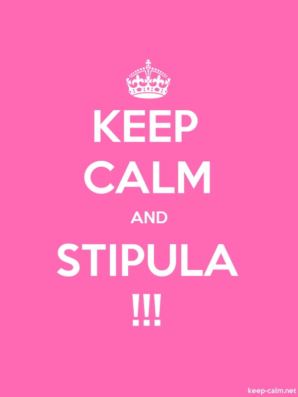 KEEP CALM AND STIPULA !!! - white/pink - Default (600x800)
