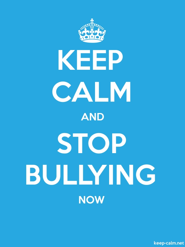 KEEP CALM AND STOP BULLYING NOW - white/blue - Default (600x800)