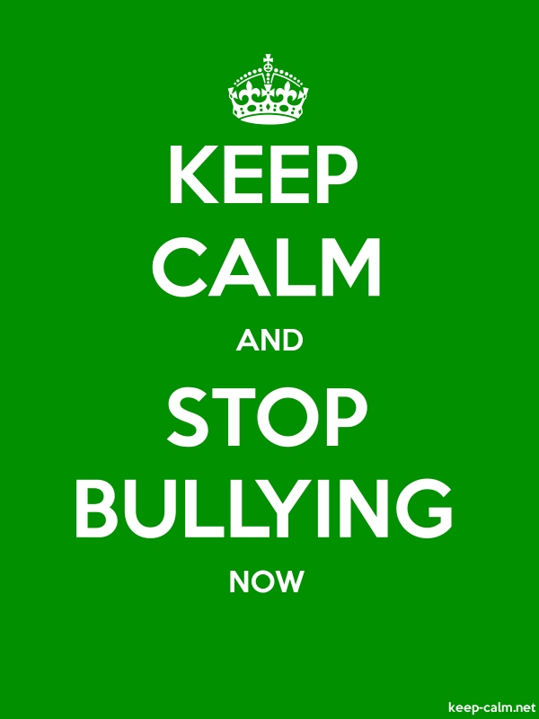 KEEP CALM AND STOP BULLYING NOW - white/green - Default (600x800)