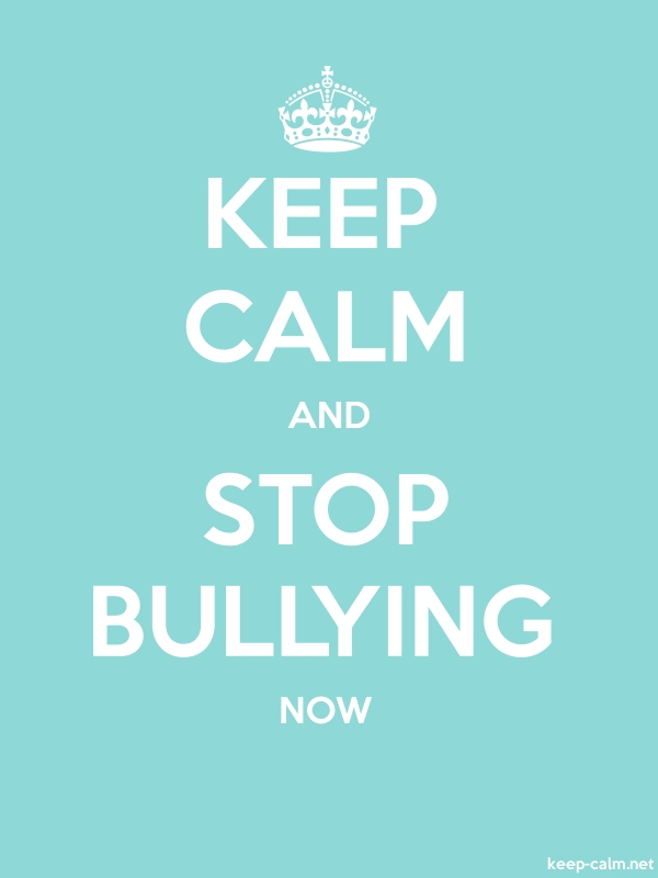 KEEP CALM AND STOP BULLYING NOW - white/lightblue - Default (600x800)