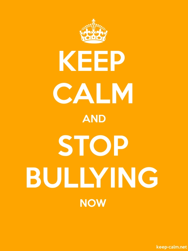 KEEP CALM AND STOP BULLYING NOW - white/orange - Default (600x800)
