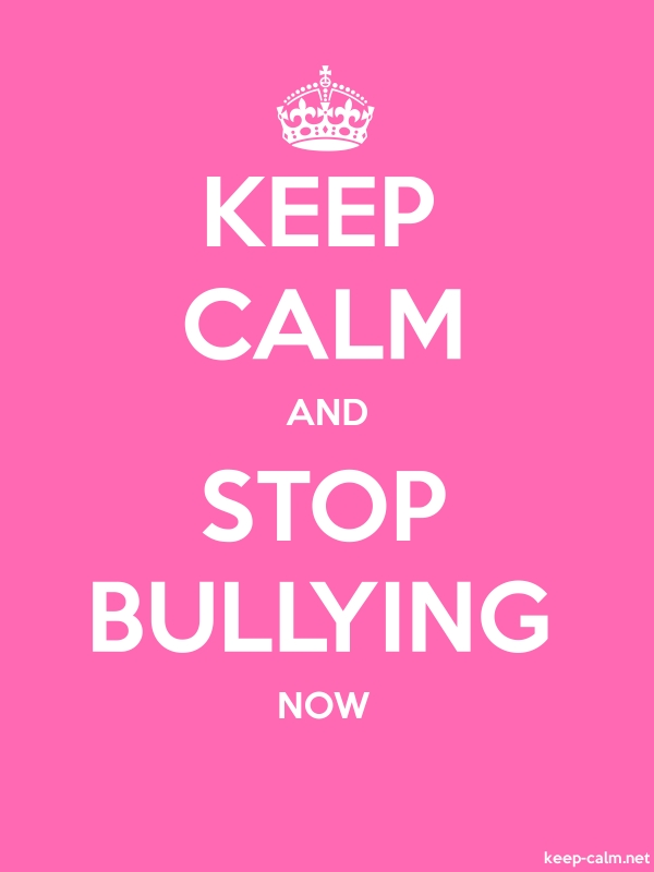 KEEP CALM AND STOP BULLYING NOW - white/pink - Default (600x800)